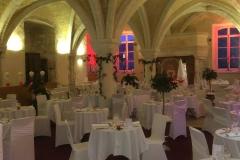 Location housse de chaise blanche dos croisé mariage