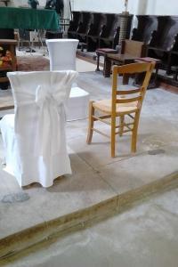 Housse de chaise église